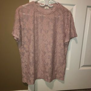 Wilfred dusty pink lace top